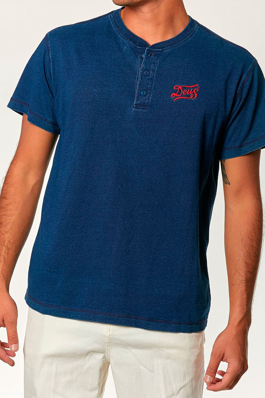 Camiseta Flag Indigo Henley Deus Ex Machina