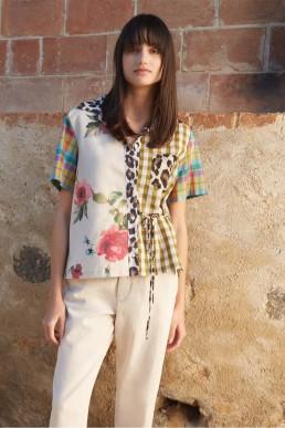 Camisa Patchwork Semicouture
