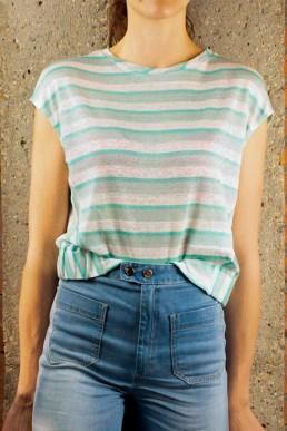 Camiseta de lino Bellerose