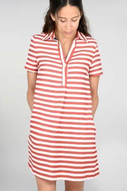 Vestido de rayas Semicouture