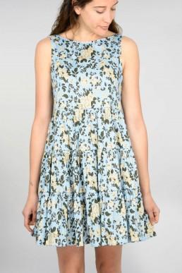 Vestido con estampado floral Semicouture