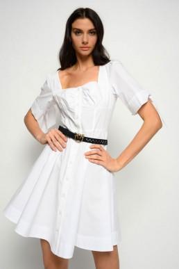 Vestido camisero blanco Pinko
