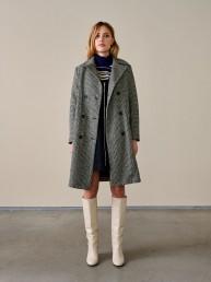 Abrigo de lana pata de gallo Bellerose