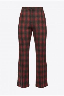 Pantalones campana de cuadros Pinko