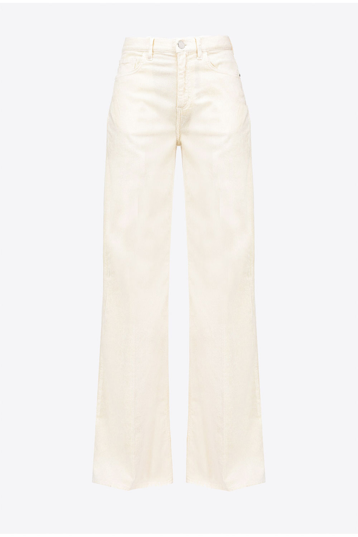 Pantalones palzzo de terciopelo Pinko