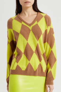 Jersey rombos de lana Semicouture