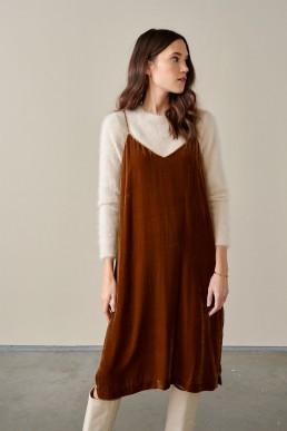 Vestido de seda Bellerose